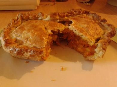 Butternut Squash and Wensleydale Pie