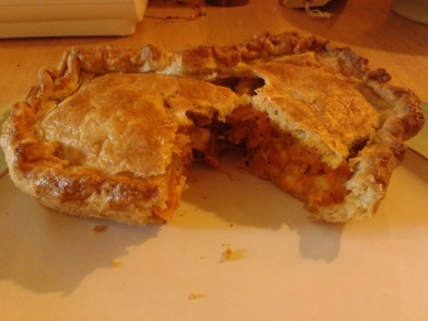 Butternut Squash and Wensleydale Pie