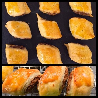 Chestnut sausage rolls