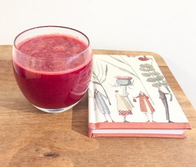 Beetroot, carrot, orange and ginger juice