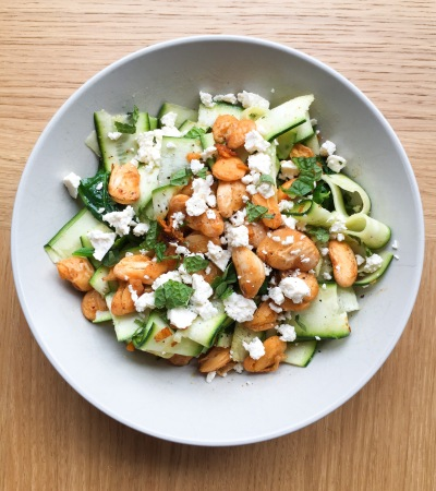 Butter Bean, Courgette and Feta Salad